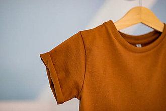 Detské oblečenie - Predĺžené tričko cognac - RVL - 10698779_