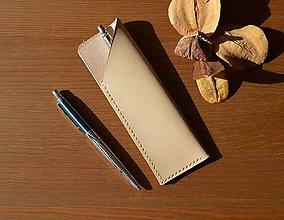 Taštičky - Kožené puzdro (Pensil case ( jednofarebné)) - 10697163_
