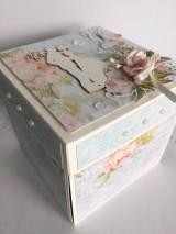 Papiernictvo - Svadobná krabička na peniaze Pivonky - 10697597_