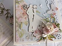 Papiernictvo - Svadobná krabička na peniaze Pivonky - 10697602_
