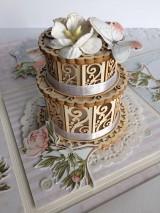 Papiernictvo - Svadobná krabička na peniaze Pivonky - 10697604_