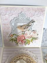 Papiernictvo - Svadobná krabička na peniaze Pivonky - 10697605_