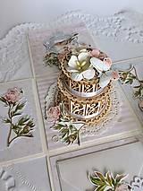 Papiernictvo - Svadobná krabička na peniaze Pivonky - 10697612_