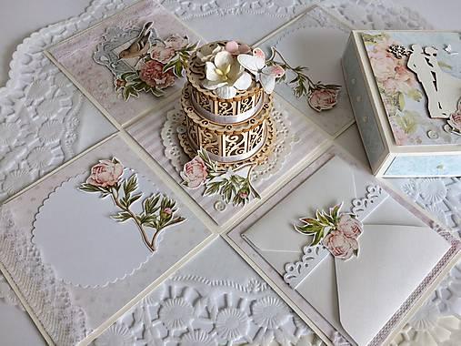 Svadobná krabička na peniaze Pivonky