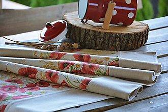 Úžitkový textil - Štóla / behúň na stôl s makmi - 10696547_