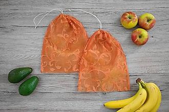 Úžitkový textil - Nákupné vrecúško - oranžové s ornamentom - 10696755_