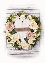 Dekorácie - Veniec na dvere s dreveným srdcom - 10696281_