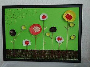 Obrazy - Muffinové kvetinky - 10697120_
