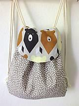 Detské tašky - Detský ruksak mini - sivohnedý Medveď - 10698630_