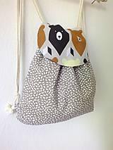 Detské tašky - Detský ruksak mini - sivohnedý Medveď - 10698631_