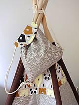 Detské tašky - Detský ruksak mini - sivohnedý Medveď - 10698633_