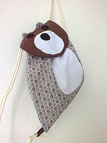 Detské tašky - Detský ruksak hnedý - Medveď/Maco - 10698692_
