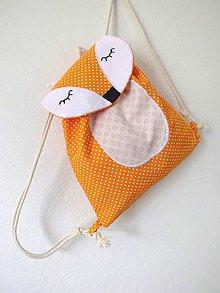 Detské tašky - Detský ruksak oranžový - Líška - 10698708_
