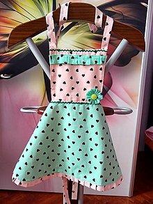 Detské oblečenie - Zásterka pre dievčatká - 10697481_
