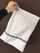 Úžitkový textil - Ľanové vrecúško na chlieb - 10696824_