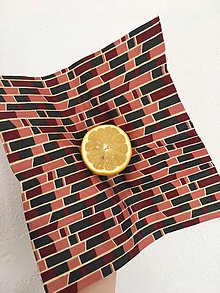 Úžitkový textil - Voskovaný obrúsok GeoPink - EkObal - 10696805_