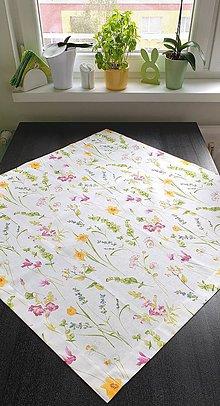 Úžitkový textil - Obrusy - kvetové     štvorce (Jarné kvety   POSLEDNÝ) - 10696506_