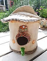 Dekorácie - Keramická búdka pre vtáčiky - 10696309_