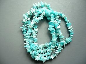 Minerály - Zlomky 90 cm - amazonit světlý - 10696940_