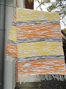 Úžitkový textil - žlto oranžový melírovaný koberec - 10699958_