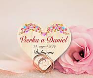 Darčeky pre svadobčanov - Svadobná magnetka - 10700104_