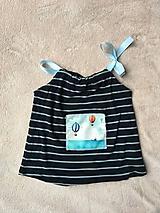 Detské oblečenie - Recy top Balóny nad morom - 10700030_