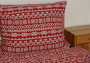 Úžitkový textil - Obliečky Čičmany červené - 10701370_