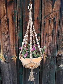 Dekorácie - Závesný kvetináč - 10700896_