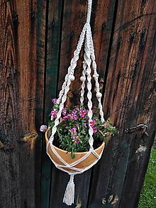 Dekorácie - Závesný kvetináč - 10700917_