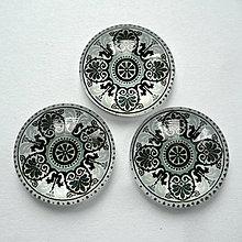 Korálky - Skl.kabošon 18mm-1ks - 10700067_