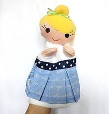 Hračky - Maňuška pani učiteľka v písmenkovej sukienke - 10701757_