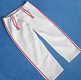 Detské oblečenie - chlapčenské krojové nohavice ľan+viskóza - 10699938_