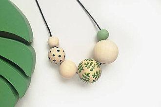 Náhrdelníky - Prírodný drevený náhrdelník - 10700927_