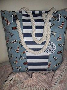 Veľké tašky - Plážová taška. - 10700165_