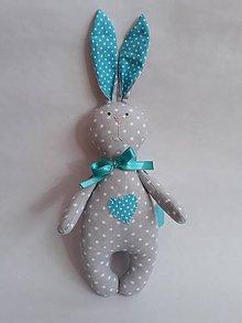 Hračky - Zajac - hračka (Tyrkysová) - 10699282_