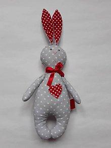 Hračky - Zajac - hračka (Červená) - 10699290_