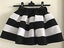 Detské oblečenie - detská čierno-biela sukňa - family set - 10700717_