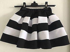 8f18c2a2c94f Detské oblečenie - detská čierno-biela sukňa - family set - 10700717