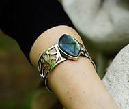 """Náramky - Nerezový náramek """" Silver and stone """" - 10700599_"""
