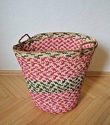 Nákupné tašky - Núbijský palmový kôš, jedinečný egyptský kôš - 10700090_