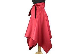 Sukne - sukňa asymetrická s výraznou viazačkou (Bordová) - 10699801_