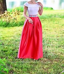 Sukne - Folklórna MAXI sukňa s vreckami - 10701267_