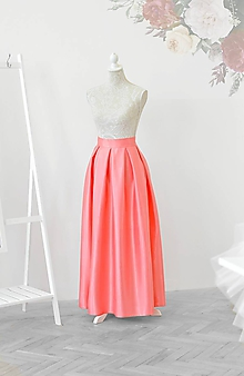 Sukne - Maxi sukňa s vreckami - 10701637_