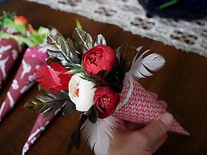 Drobnosti - kvety v kornutiku - 10699628_