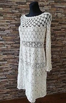 Šaty - Háčkované šaty - 10700007_