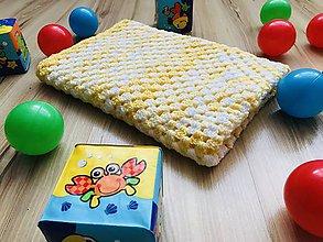 Textil - Deka do kočíka Bambo - žltá - 10699552_