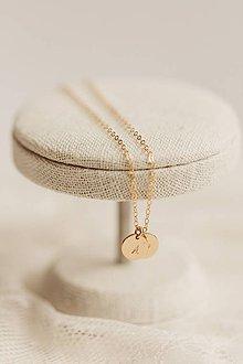 Náhrdelníky - Retiazka s medailónmi / gold filled - 10701894_