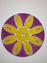 Magnetky - Magnetka Mandala z piesku ø8cm - 10700274_