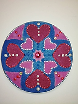 Magnetky - Magnetka Mandala z piesku ø8cm - 10700310_