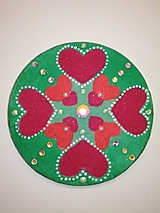 Magnetky - Magnetka Mandala z piesku ø8cm - 10700323_